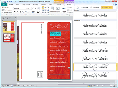 Hosted Microsoft Publisher 2010